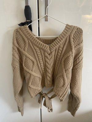 NA-KD V-Neck Sweater camel