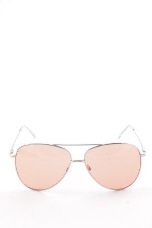 NA-KD Retro Brille silberfarben-hellorange 70ies-Stil