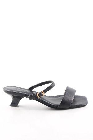 NA-KD Riemchen-Sandaletten schwarz Casual-Look