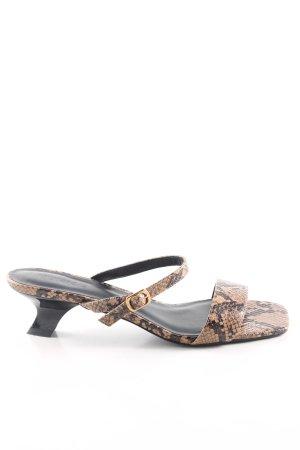 NA-KD Riemchen-Sandaletten braun-nude Animalmuster extravaganter Stil