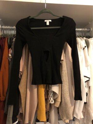 NA-KD Geribd shirt zwart