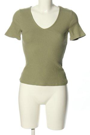 NA-KD Prążkowana koszulka brązowy Wzór w paski W stylu casual