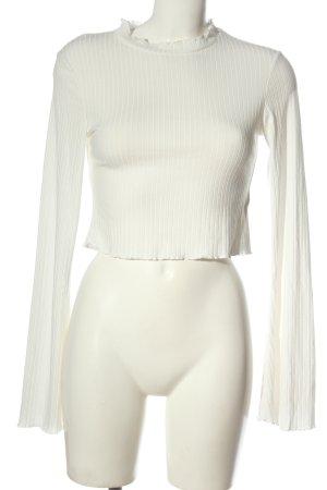 NA-KD Ribbed Shirt white casual look