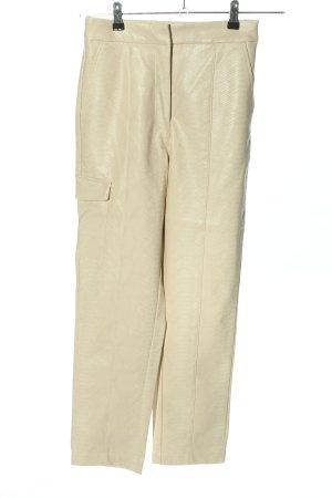 NA-KD Pantalone a sigaretta crema motivo animale stile casual