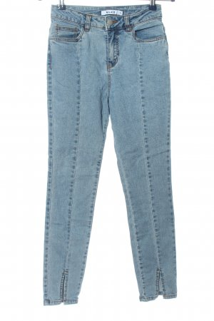 NA-KD Tube jeans blauw gewassen uitstraling