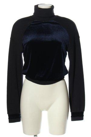 NA-KD Rollkragenpullover blau-schwarz Casual-Look