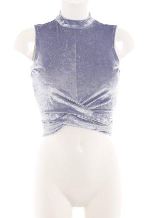 NA-KD Top con colletto arrotolato lilla stile casual