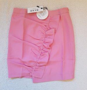 NA-KD Flounce Skirt pink polyester