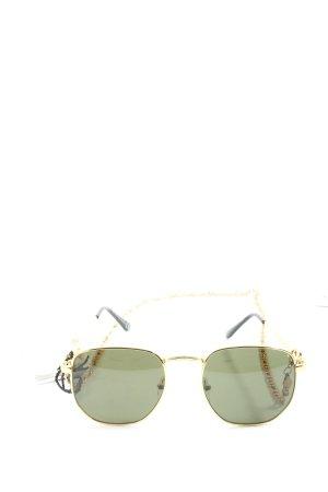 NA-KD Round Sunglasses gold-colored glittery