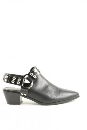 NA-KD Slip-on Booties black-silver-colored casual look