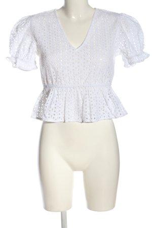 NA-KD Schlupf-Bluse weiß Casual-Look