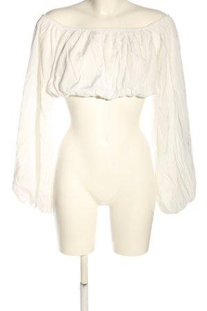 NA-KD Schlupf-Bluse weiß extravaganter Stil