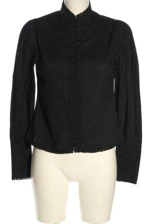 NA-KD Schlupf-Bluse schwarz Casual-Look