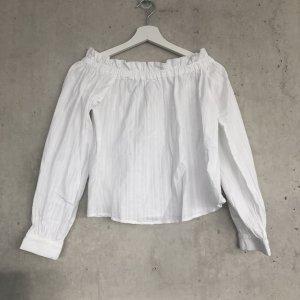 NA-KD schulterfreie weiße Bluse