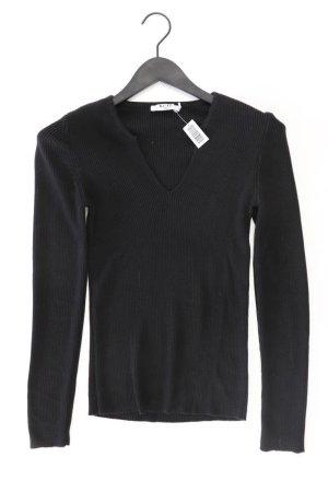 NA-KD Shirt mit V-Ausschnitt Größe M Langarm schwarz