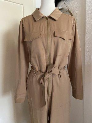 NA-KD Falda pantalón de pernera ancha beige-nude