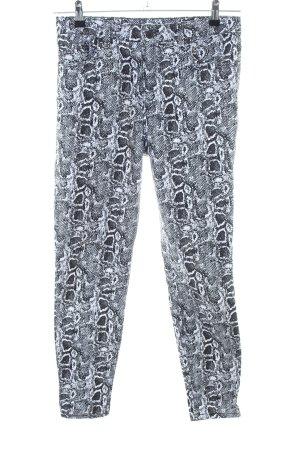 NA-KD Skinny Jeans hellgrau Allover-Druck Casual-Look