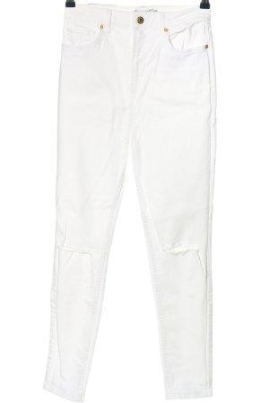 NA-KD Skinny Jeans weiß Casual-Look