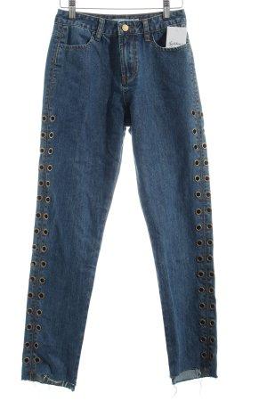 """NA-KD Slim Jeans """"Eyelet Denim Pant"""" blau"""