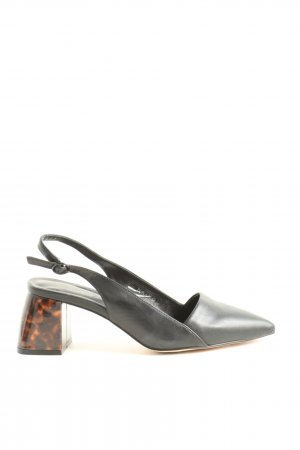 NA-KD Slingback-Pumps schwarz-braun Business-Look