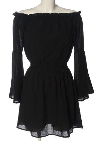NA-KD Sommerkleid Kleid minikleid 34 XS Langarmkleid schwarz Casual-Look