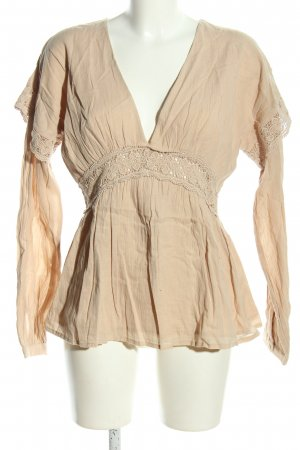 NA-KD Spitzenbluse creme Casual-Look