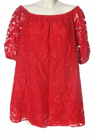 NA-KD Spitzenbluse rot Casual-Look