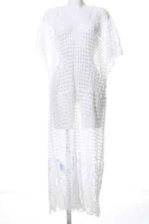 NA-KD Spitzenkleid weiß Blumenmuster Elegant