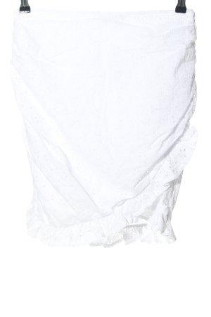 NA-KD Jupe en dentelle blanc style décontracté