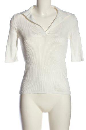 NA-KD Blouse à col montant blanc motif rayé style décontracté