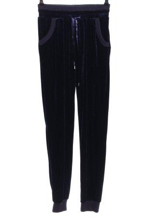NA-KD Stoffhose schwarz-blau Streifenmuster Casual-Look