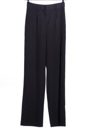 NA-KD Pantalón tipo suéter negro-blanco estampado a rayas estilo «business»