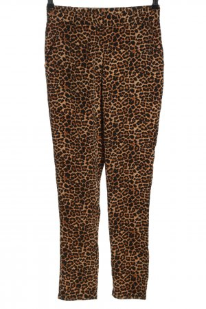 NA-KD Stoffhose Leomuster Casual-Look
