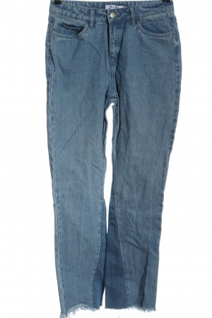 NA-KD Straight-Leg Jeans blau Casual-Look