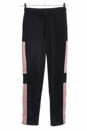 NA-KD Stretchhose schwarz-pink Casual-Look