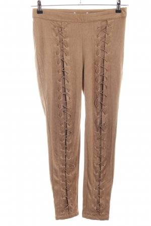 NA-KD Stretch Trousers beige extravagant style