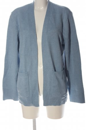 NA-KD Strick Cardigan blau meliert Casual-Look