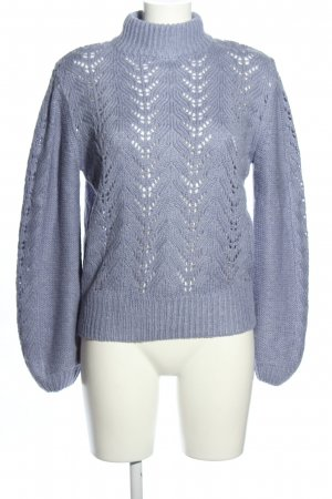 NA-KD Strickpullover blau Zopfmuster Casual-Look