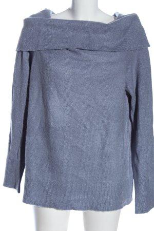 NA-KD Strickpullover blau meliert Casual-Look