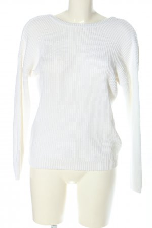 NA-KD Strickpullover weiß Zopfmuster Casual-Look