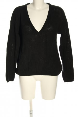 NA-KD Strickpullover schwarz Casual-Look