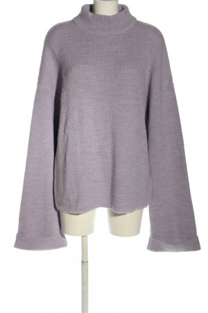 NA-KD Strickpullover hellgrau Casual-Look