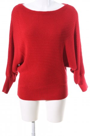 NA-KD Strickpullover rot Streifenmuster Casual-Look