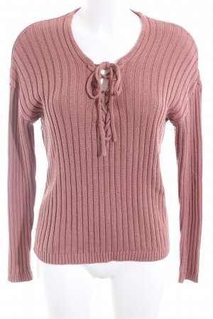 NA-KD Strickpullover pink Streifenmuster Casual-Look