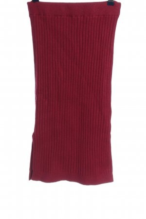 NA-KD Knitted Skirt red casual look