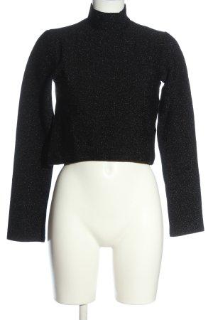 NA-KD Strickshirt schwarz Casual-Look