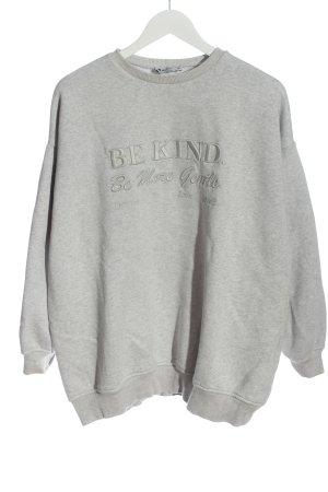 NA-KD Sweat Shirt light grey flecked casual look