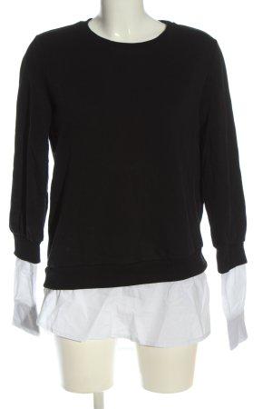 NA-KD Sweatshirt schwarz-weiß Business-Look