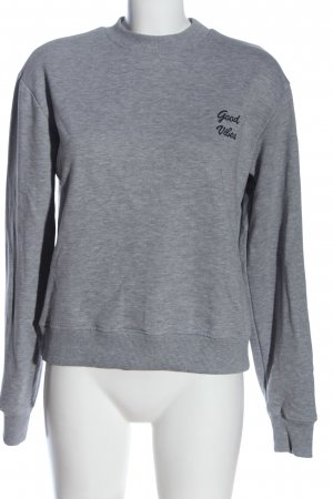 NA-KD Felpa grigio chiaro puntinato stile casual