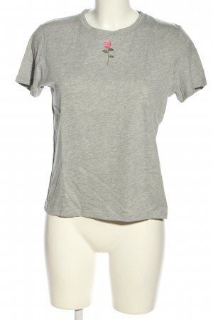 NA-KD T-Shirt hellgrau meliert Casual-Look